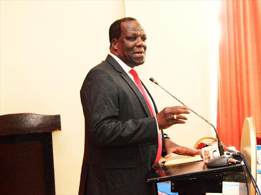Kakamega Governor Wycliffe Oparanya at the county headquarters on Wednesday, October 3, 2018. /CALISTUS LUCHETU