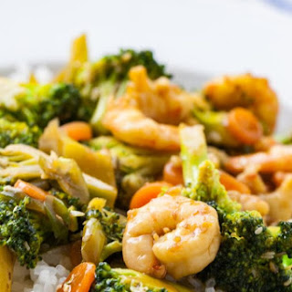 Honey Garlic Shrimp and Broccoli.