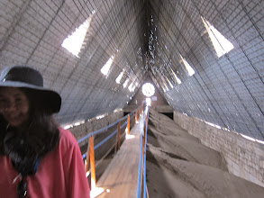 Photo: Catwalk Inside the roof, above the domes