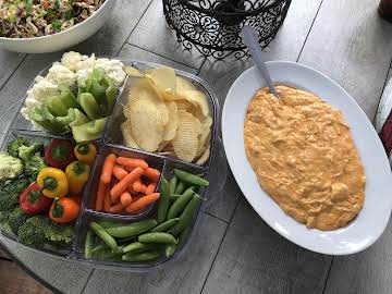 Smokey Buffalo Chicken Dip