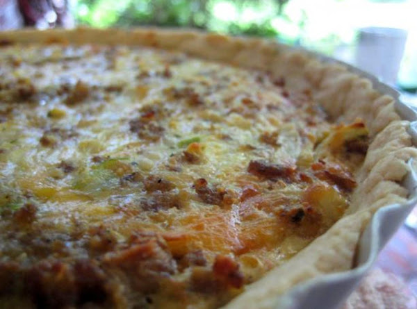 Cheesy Sausage Quiche Recipe
