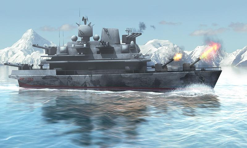 Naval Fury: Warship 3D- screenshot