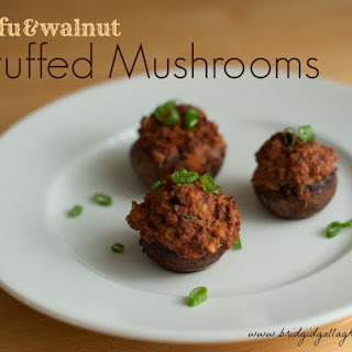 Tofu- and Walnut-Stuffed Mushrooms