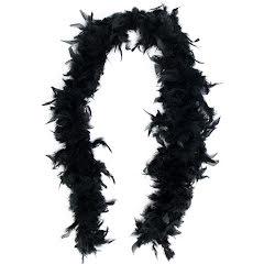 Fjäderboa, svart
