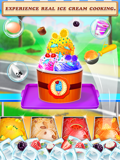 Code Triche Street Ice Cream Shop - Summer Beach Carnival APK MOD screenshots 5