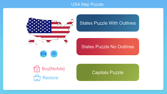 Download USA Map Puzzle Game APK latest version game for