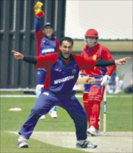IN FULL CRY: Afghanistan fast bowler Hamid Hassan says the side plays for pride and wants to qualify for the 2011 World Cup. 07/02/09. © Unknown.