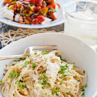 Creamy Garlic Chicken Pasta.