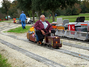 Photo: Jerry Schoenberg with his Penny train.      HALS / SWLS 2013-1109  RPW