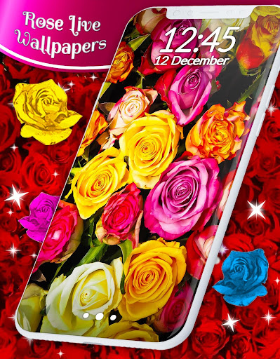 Red Rose ud83cudf39 Diamond Shine Live Wallpaper screenshots 3