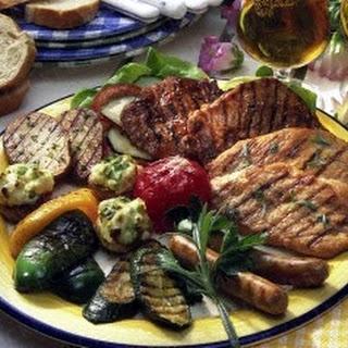 Grillteller mit Gemüse