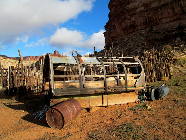 Old wagon in Cove Canyon