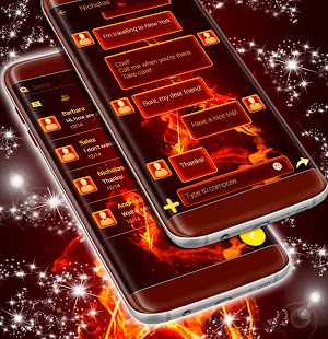 SMS Flaming Guitar Theme Free - náhled