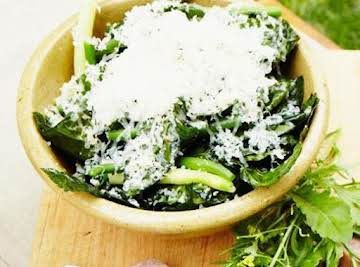 Marinated Kale and Green Bean Salad