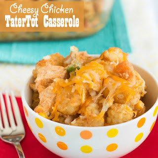 Cheesy Chicken Tater Tot Casserole.