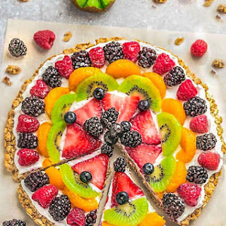 Healthy Fruit Pizza + VIDEO Recipe