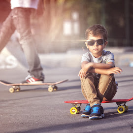 Ricky by Rafał Wójcicki - Babies & Children Child Portraits ( rafalwojcicki, nature, outdoor, nikon, boy, light, portrait, skatepark )
