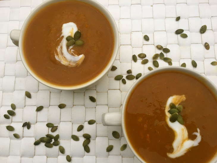 Slow Cooker Butternut Squash Sweet Potato Soup Recipe