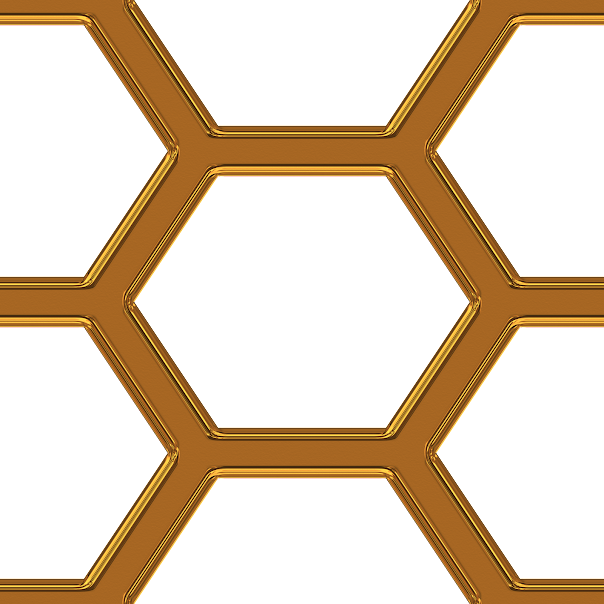 , Geometrical honeycomb pattern
