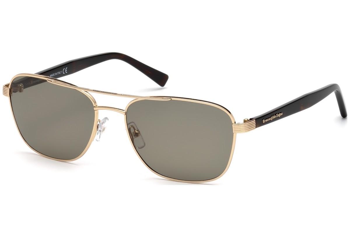 049636bfeb2 Sunglasses Ermenegildo Zegna EZ0068 C57 28N (shiny rose gold   green)