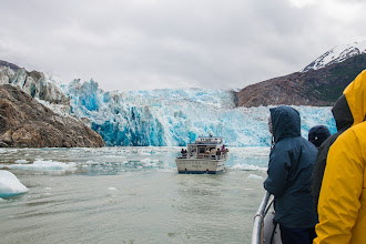Photo: Our sister boat heads toward South Sawyer Glacier; Tracy Arm