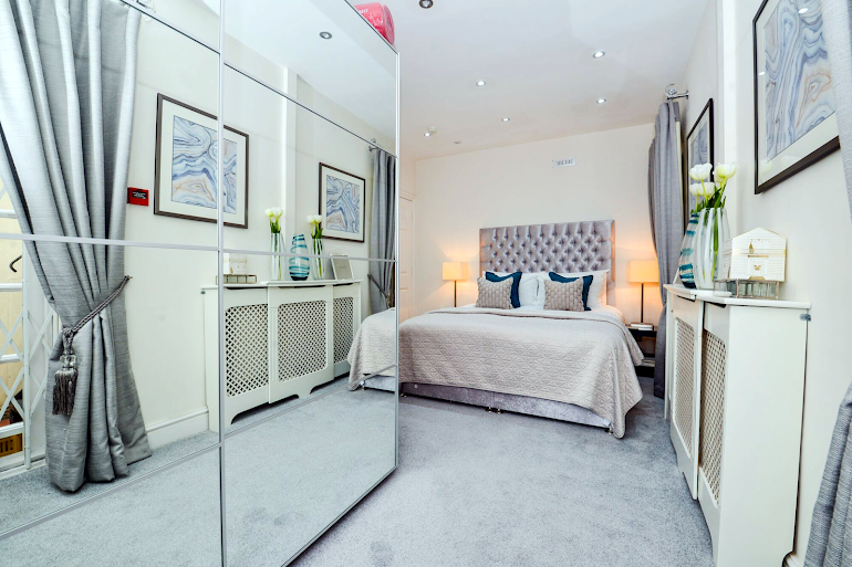 Bedroom at Marylebone apartment
