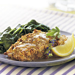 Pistachio-Crusted Grouper with Lavender Honey Sauce.