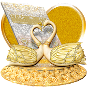 3D Luxury Lovely Couple Swan Theme