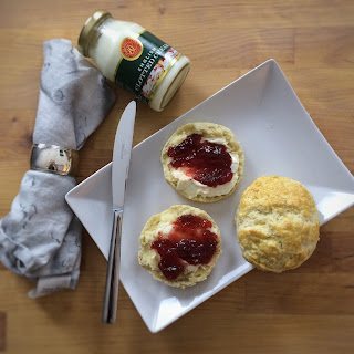 Easy Scones With Clotted Cream And Jam.