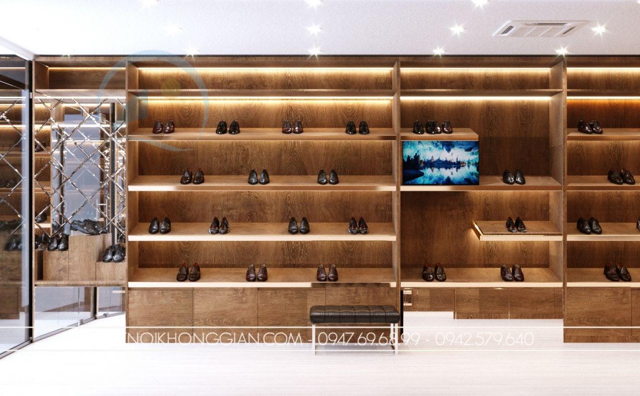 thiết kế shop giày dép hiện đại