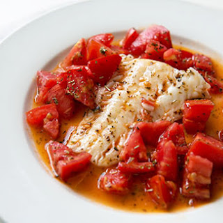 Cod Sautéed in Olive Oil with Fresh Tomatoes.
