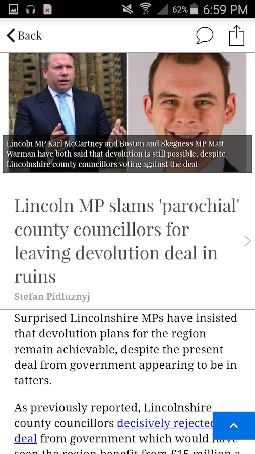 Lincolnshire Reporter- screenshot
