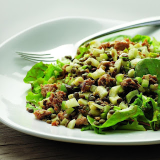 Warm Lentil Salad with Sausage & Apple for Two