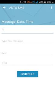 Auto SMS screenshot 1