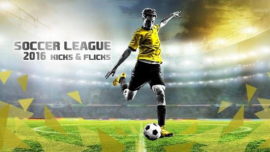 Futebol League Kicks & Flicks imagem do Jogo