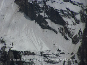 Photo: Members climbing the couloir.. seen from Camp-I