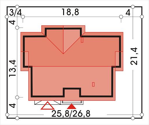 Agatka wersja A dach 22 stopnie - Sytuacja