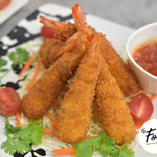Crispy Shrimp Tempura with Tartar Sauce.