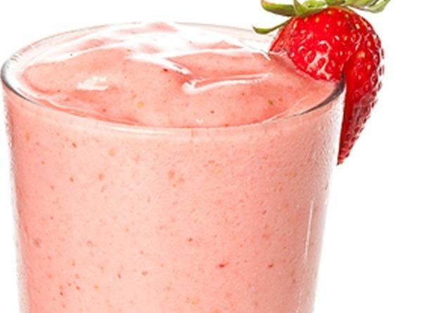 Combine pineapple juice, yogurt, strawberries and bananas into a blender container. Cover and blend...