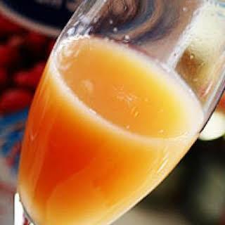Peach Mimosas.