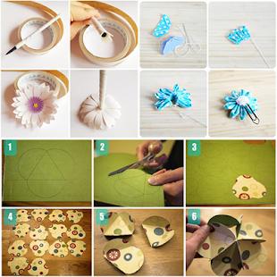 Paper flower craft tutorial apps on google play screenshot image mightylinksfo