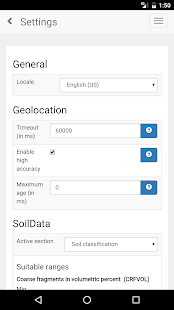 SoilInfo App- screenshot thumbnail