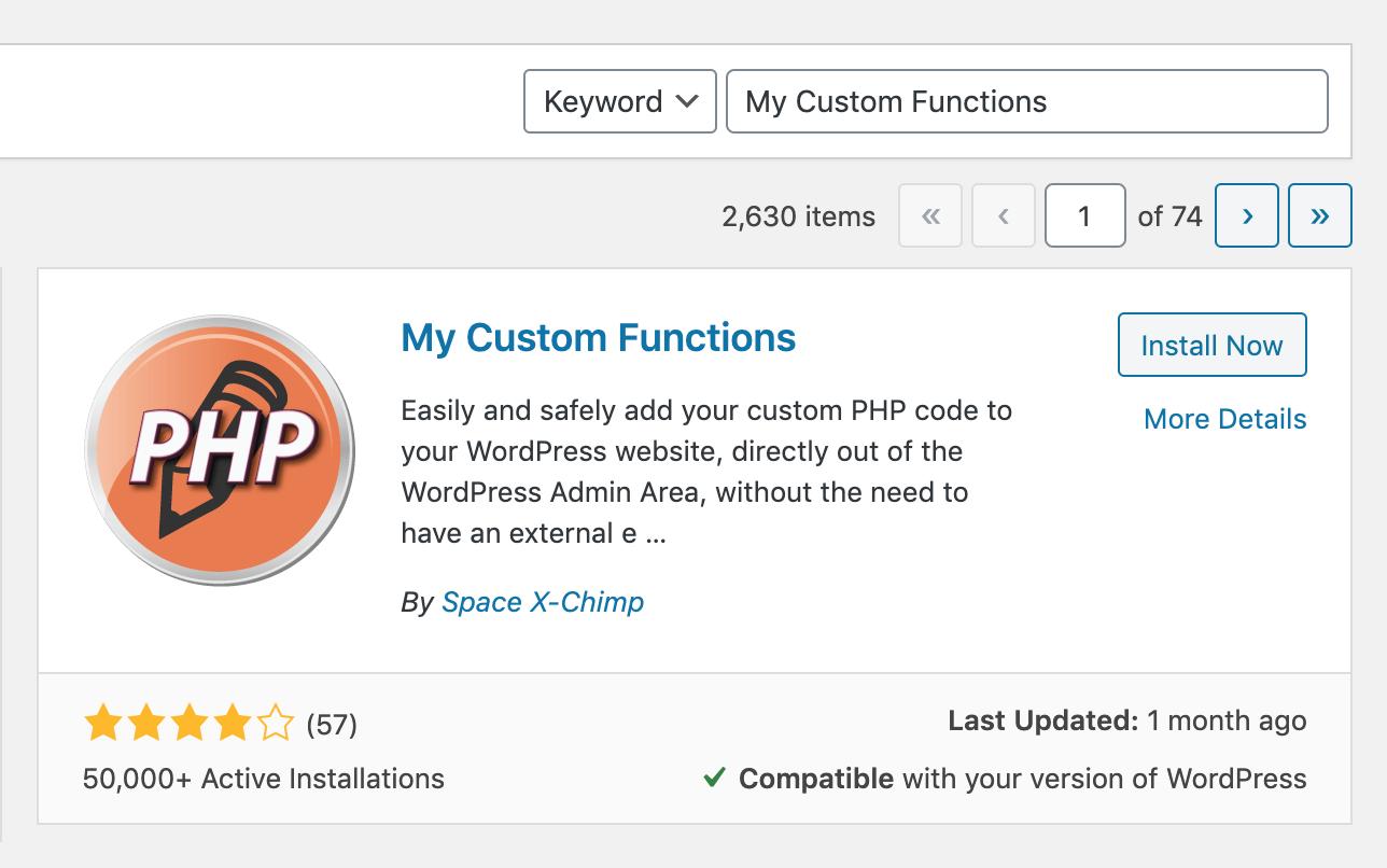Add Custom PHP Code to WordPress Sites