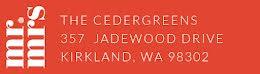 The Cedergreens - Address Label item