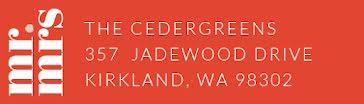 The Cedergreens - Address Label template