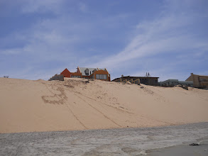 Photo: House with a view on the sand dune beach interface, Henties Bay