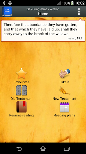 Bible King James Version - screenshot