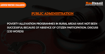 Public Administration Answer Writing Challenge - Question Set 5