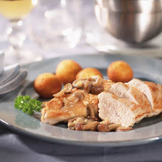Pressure Cooker Chicken and Mushrooms.