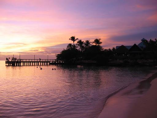 Cuba-Beach-Landscape-with-Purple-Sky.jpg - A Cuban beach at sunset.